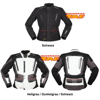 Modeka Viper LT Motorrad Textiljacke Hellgrau//Dunkelgrau//Schwarz 3XL