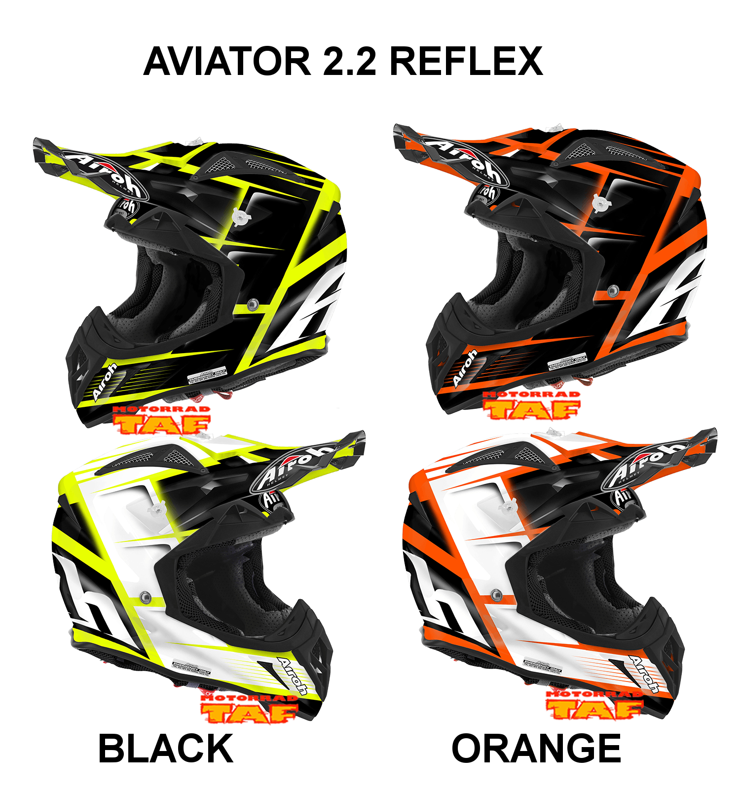 motorrad taf airoh aviator 2 2 reflex 39 16 onlineshop. Black Bedroom Furniture Sets. Home Design Ideas